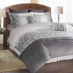 Cosmopolitan Lace Grey Bedding Collection by Park Avenue