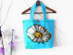 Turquoise cloth bag Handmade Jeans bag Blue by Nazcolleccolors Handmade Fabric Bags, Handmade Handbags, Handmade Gifts, Postman Bag, Blue Shoulder Bags, Flower Bag, Unique Bags, Denim Bag, Large Flowers