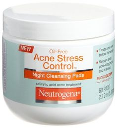 Neutrogena Acne Stress Control Night Cleansing Pads 60 Count Pack of 3 * Check this awesome image  : Skincare For Acne