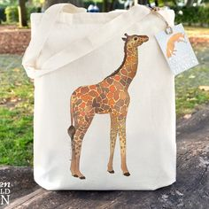 """I've had a #creative binge this week and finally finished off some #illustrations that were in the """"To Draw"""" list including this little #Giraffe which is now available on #totes wash #bags and #purses! I'm looking forward to seeing that cute face on some badges and pocket mirrors soon too! Ceridwen Hazelchild Design"""