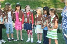 """pinner wrote """"Bridging  I gave them each a bag with some goodies in it. It contained a packet of Daisy seeds to remind them of where they have been (as Daisy Girl Scouts), a brownie to remind them of where they are and a giant box of Junior Mints to get them to think about where they are going.""""  Great idea"""