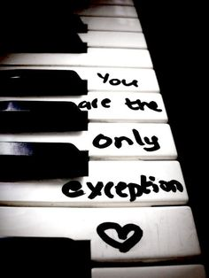 Paramore lyric. I hope to say this about someone...someday.