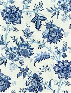 "Island Gem Indigo  Waverly Fabric, 100% cotton, multi purpose fabric drapery or upholstery. Repeat; H 9"", V 18"". 54"" wide"