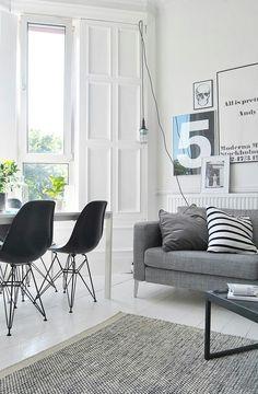 White and Grey interior