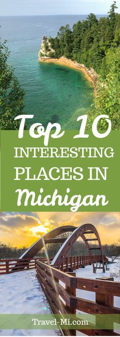 10 Ten Michigan Travel Destinations Examples include Isle Royale National Park Pictured Rocks National Lakeshore our favorite upper peninsula waterfall and so much Michigan Vacations, Michigan Travel, Torch Lake Michigan, Michigan Waterfalls, Places To Travel, Travel Destinations, Ludington Michigan, Pictured Rocks National Lakeshore, Holland Michigan