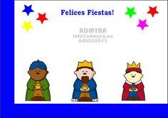 Vinilo con los tres reyes magos para escaparate navidad.