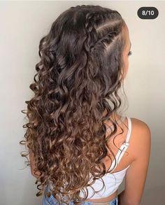 Curly Hair Styles Easy, Curly Hair Tips, Natural Hair Styles, Quince Hairstyles, Cute Curly Hairstyles, Hair Curling Tips, Curly Wedding Hair, Aesthetic Hair, Hair Looks