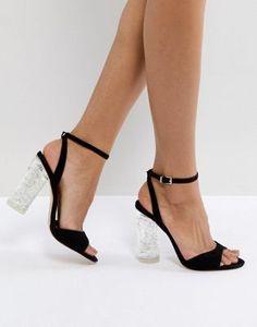 d39992a957e Faith Doris Clear Heel Sandals at asos.com