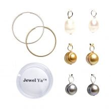 For all the pearl lovers out there! The Hoop Earring & Pearl Drop Set www.jewelya.com