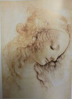 Leonardo da Vinci  Study drawing of an angel