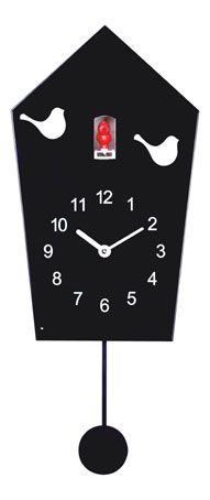 BLACK METAL CUCKOO WALL CLOCK