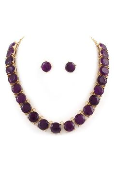Necklace Set in Amethyst Crystal