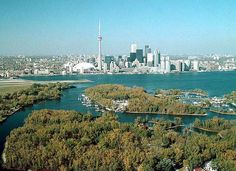 """Toronto means """"The place where trees stand on the water"""" in reference to the islands of Toronto's shorefront, popular summer getaways today."""