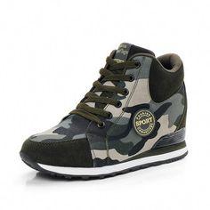 7ec17991294a Women s Fashion High-Top Camouflage Sneakers  Sneakers Sneaker Heels