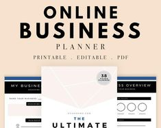 Check out our goal setting printables selection for the very best in unique or custom, handmade pieces from our shops. Planner Pdf, Blog Planner, Printable Planner, Printables, Business Planner, Business Goals, Business Branding, Social Media Planner, Planners