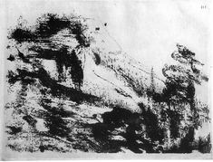 Neoclassicisme en Romantiek ~ Alexander Cozens ~ Landschap ~ Illustratie uit 'A New Method of Assisting the Invention in Drawing Original Compositions of Landscape' ~ Londen, 1785 Assemblage, Talk To Me, Art App, Abstract, Drawings, Inspiration, Artwork, Outdoor, Paper