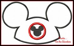 Mickey Mouse Club Hat Applique Digital by Thanks4TheAdventure