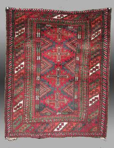 Vintage Antique Baluch Pillow Cover by tcEclecticImages on Etsy
