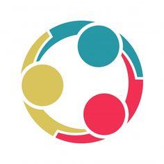 Logo Mano, People Holding Hands, Three Logo, People Logo, Life Logo, Community Logo, Paper People, Hand Logo, Happy Friends