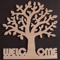 Welcome Tree Sign by Venustudio on Etsy