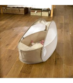 Buy your Koo-Di Pop Up Travel Bassinette Cafe Creme from Kiddicare Travel Cots  Online baby shop   Nursery Equipment £25.  Better than a moses basket as it's more portable.
