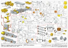 Toby part 1 Drawing Projects, Metal Projects, Miniature Steam Engine, Live Steam Locomotive, Model Railway Track Plans, 3d Drawings, Aircraft Design, Technical Drawing, Model Building