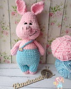 Mesmerizing Crochet an Amigurumi Rabbit Ideas. Lovely Crochet an Amigurumi Rabbit Ideas. Crochet Cowl Free Pattern, Crochet Shoes Pattern, Crochet Pig, Crochet Animal Patterns, Granny Square Crochet Pattern, Crochet Blanket Patterns, Crochet For Kids, Crochet Dolls, Handmade Stuffed Animals