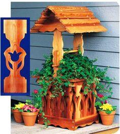 BDP232 Wishing Well Planter Woodworking Plan Scrollsaw Pattern Shopsmith | eBay