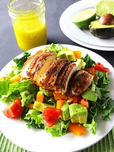 Chicken and Avocado Salad | 21 Homemade Healthy Chicken Recipes | https://homemaderecipes.com/21-healthy-chicken-recipes/