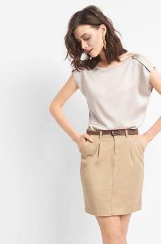 Minisukně s opaskem - Béžový Mini Skirts, Belt, Chic, Shopping, Fashion, Belts, Shabby Chic, Moda, Elegant