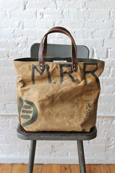 WWII era Military Canvas Tote Bag: