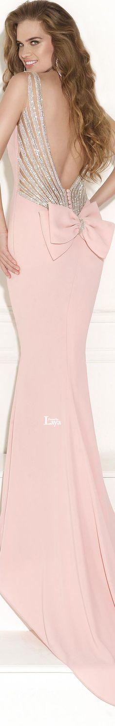 ♔LAYA♔TARIK EDIZ F2015♔     jαɢlαdy...nice 'back' inspiration  for a ballroom dress