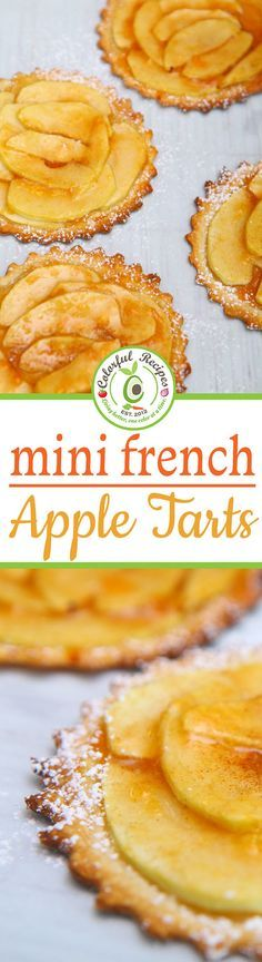 Easiest Mini French Apple Tarts - The most delicious, cozy and Easiest Mini French Apple Tarts you will ever have in your life! Bakes in just 15 minutes. The perfect blend of sweetness and tartness.