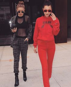 """5,797 Likes, 29 Comments - Thessy & Yiota (@saboluxe) on Instagram: """"NYC ✔️ #gigihadid #bellahadid"""""""