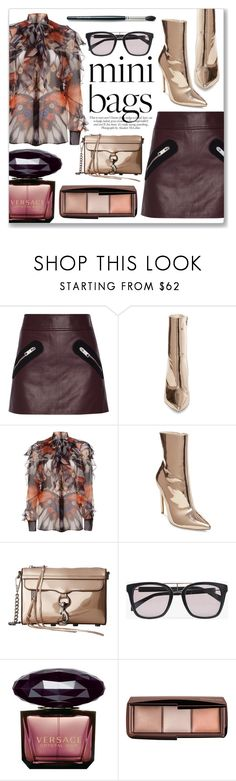 """So Cute: Mini Bags"" by julijana-k ❤ liked on Polyvore featuring Versus, ANNA, Steve Madden, Givenchy, Rebecca Minkoff, Balmain, Versace, Hourglass Cosmetics, Laura Mercier and stylish"