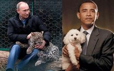 Interesting. #Russia mocks Pres #Obama by #tweeting out a very 'unmanly' photo of our president.