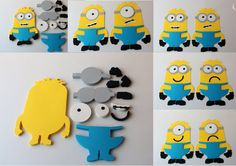 Create a Minion Craft Set. Great for birthday party or classroom! Everything you need to make your own minion. Minion Games, Minion Craft, Minion Theme, Minion Birthday, Diy Birthday, Birthday Ideas, Kids Birthday Crafts, Birthday Party Decorations Diy, Birthday Party Games