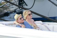 A Roundup of All The Celebrities Who Did Holiday Vacation Better Than You Ellen Degeneres And Portia, Ellen And Portia, Portia De Rossi, The Ellen Show, Better Than Yours, Travel Guide, Celebrity Style, Take That, Boat