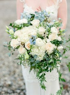 The hues in this bouquet are winning us over: http://www.stylemepretty.com/little-black-book-blog/2015/05/21/rustic-elegant-pacific-northwest-bridal-inspiration/ | Photography: Faith Teasley - http://www.faithteasley.com/
