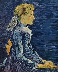 Painting, Oil on Canvas Auvers-sur-Oise: June, 1890 Private collection Switzerland, Image Only - Van Gogh: Portrait of Adeline Ravoux Vincent Van Gogh, Art Van, Paul Gauguin, Dutch Artists, Famous Artists, Claude Monet, Van Gogh Arte, Van Gogh Pinturas, Van Gogh Portraits