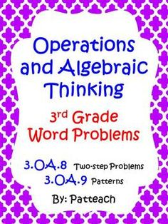 Operations and Algebraic Thinking: 3rd Grade Word Problems