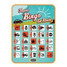 Reis bingo voor in de auto of bus, ideaal om kinderen bezig te houden zodat je zelf ook een relaxte reis hebt. Reisbingo bevat 2 bingo platen die aan twee kanten bruikbaar zijn. Iedere zijde heeft weer andere icoontjes dus zo hou je het een beetje afwisselend. Maak het vakje dicht als je het object gezien hebt. De kaarten zijn telkens weer opnieuw te gebruiken. Er staan allerlei verschillende icoontjes op deze retro design travel bingo die dus 2 kinderen vanaf 4 jaar tegelijkertijd…
