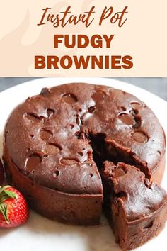 Instant Pot Fudgy Brownies These moist & fudgy Instant Pot Brownies are so easy to make from scratch. Enjoy with some vanilla ice-cream for a perfect dessert! The post Instant Pot Fudgy Brownies appeared first on Guadalupe Pratt. Dessert Parfait, Bon Dessert, Dessert Aux Fruits, Best Instant Pot Recipe, Instant Pot Dinner Recipes, Pressure Cooker Desserts, Pressure Cooking, Pressure Cooker Cake, Pressure Cooker Chicken