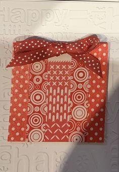 washi tape, ribbon and cuttlebug