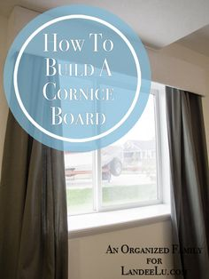 How to Build a Cornice Board