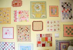 what wonderful projects .. doll quilts!   (quilt wall by Hillary Lang)