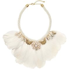 Necklace with feathers (195 HRK) ❤ liked on Polyvore featuring jewelry, necklaces, shell jewelry, short necklace, cord necklace, seashell jewelry and twisted necklace