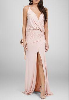 Maddie Vestido Ania longo com fenda frontal e quadril marcado Maddie - rosa - Disponível para aluguel Online no site PowerLook