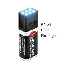 Blocklite Ultra Bright 9 Volt LED Flashlight Torch Camping Fishing Light Lanterna Mini Compact Size Waterproof Lamp H10734