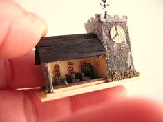 From DJD Tiny detailed church by DebJacksonDesigns on Etsy, $76.00